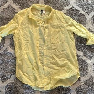 H&M yellow button down